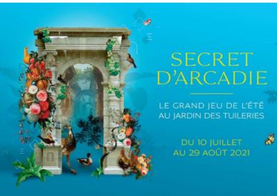 """""""Secret d'Arcadie"""", jeu parcours aux Tuileries"""
